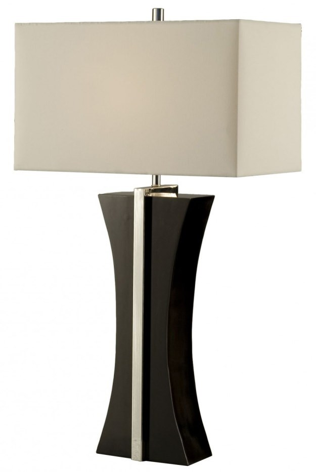 Lamps with Black-And-White Lamp Shades