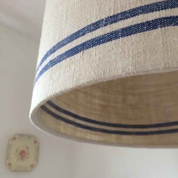 Linen lampshades