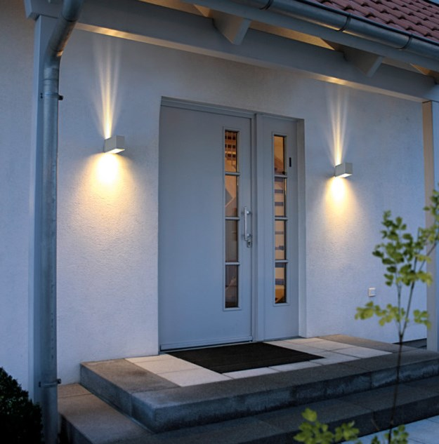 Outside wall sconces