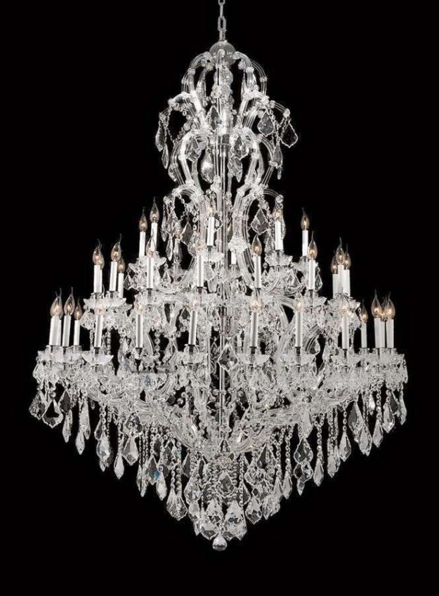 White Candle Chandeliers