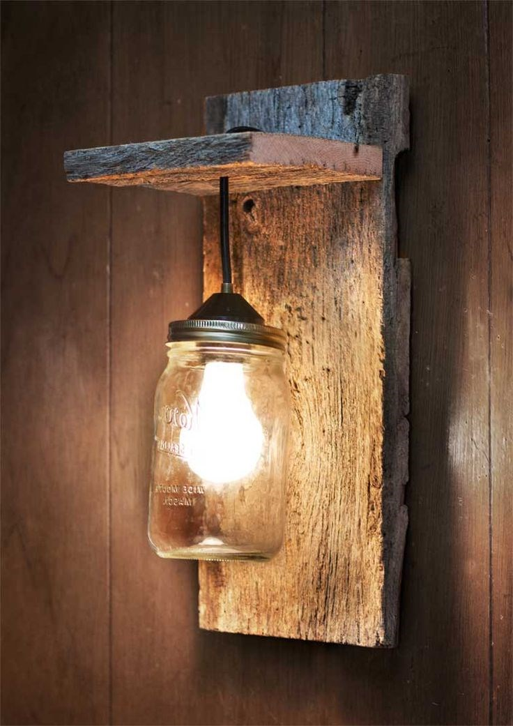 Wood wall sconce for Lampe deco interieur