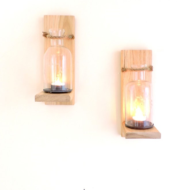 Wood wall sconces