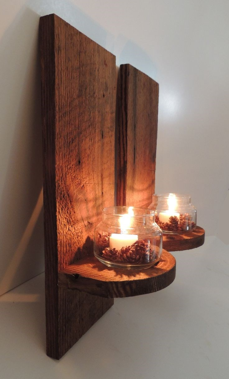 Wooden wall sconces