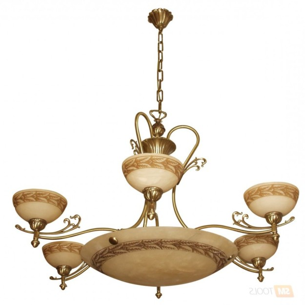 Brass chandeliers