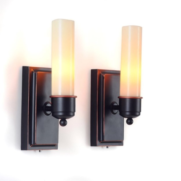 Wall Sconces With Battery Operations : Battery Operated Wall Sconces