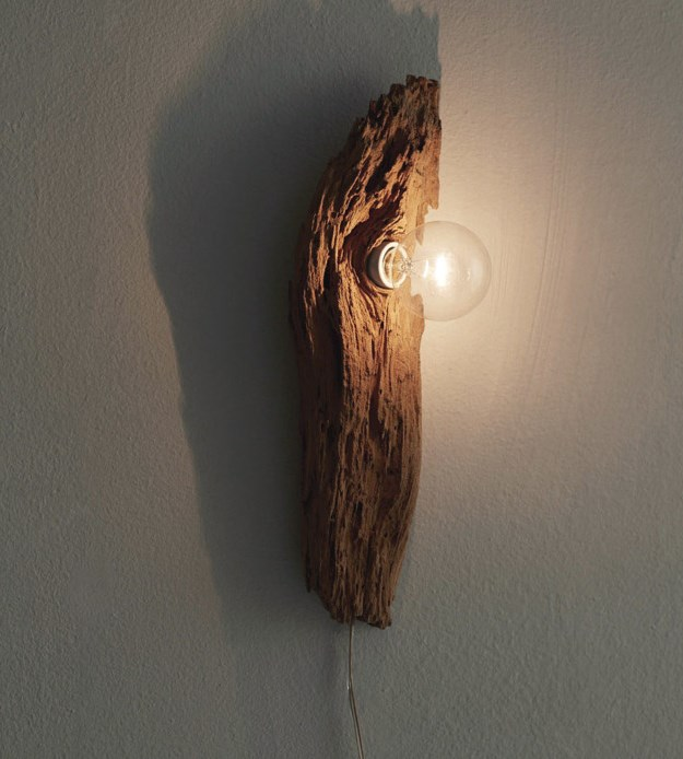 Wooden Wall Sconce