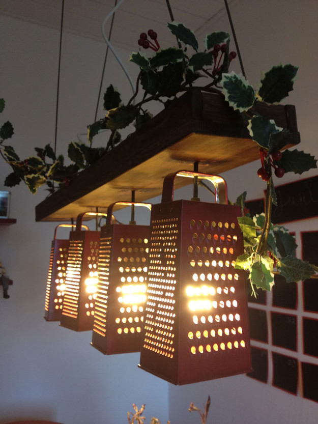 21 DIY Lamps & Chandeliers You Can Create From Everyday Objects